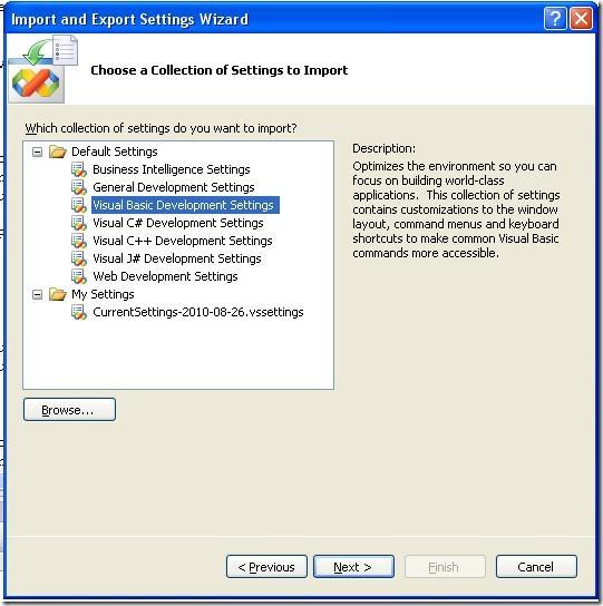 VB NET: Missing menu items in Visual Studio 2005   Mr Dublin